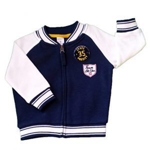 Carter's Boys Varsity Sports Jacket, Zip Front, Navy & White