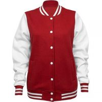 Cute Baseball Girlfriend Name Ladies Fleece Letterman Varsity Jacket