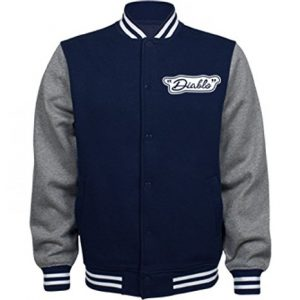 El Diablo Costume Jacket: Unisex Fleece Letterman Varsity Jacket