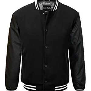 Guytalk Men's Letterman Style Premium Thick Fabric Varsity Baseball Jacket