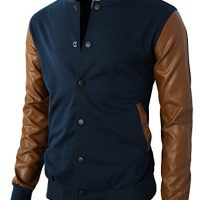 H2H Mens Slim Fit Varsity Baseball Bomber Jacket of Various Styles