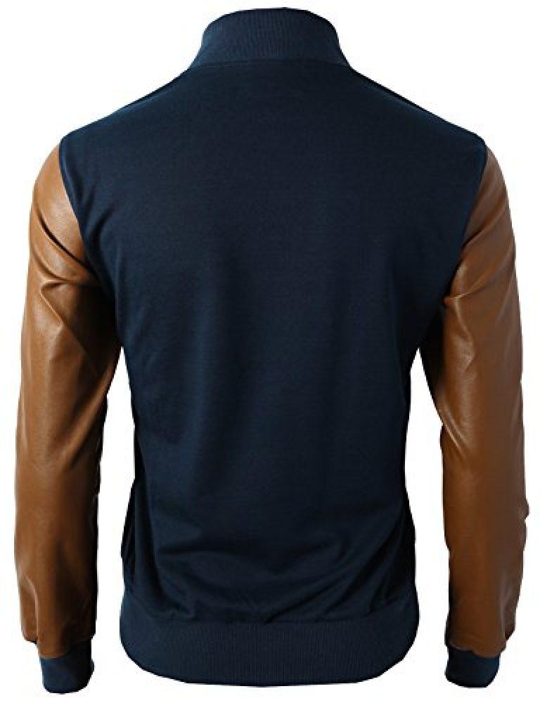 H2H Mens Slim Fit Varsity Baseball Bomber Jacket of Various Styles