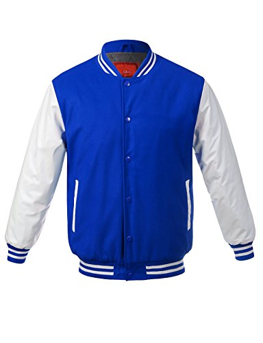 Buy JD Apparel Men's Two-Tone Premium Varsity Baseball Jacket
