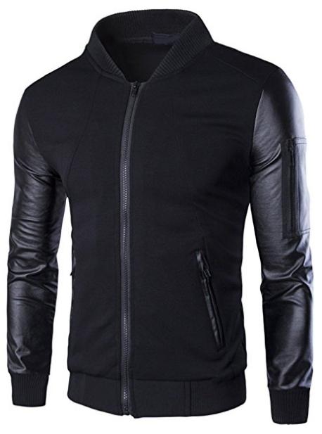 slim fit letterman jacket