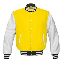 Superb Genuine Leather Sleeve Letterman College Varsity Kid Wool Jackets