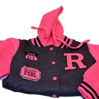 Urban Diva Urban Kids Girls Size 7 8 Two Tone Hot Pink and Charcoal Gray Athletic Baseball Jacket Jogger for Girls