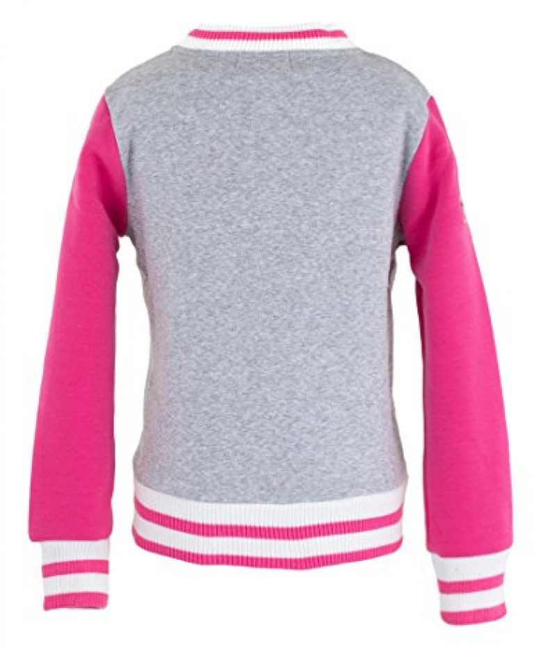 WG Fashion 1407 Big Girl's A is for Angel Letterman Jacket