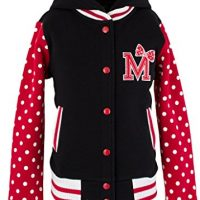 WG Fashion 16117 Big Girl's Polka Dot and M Letterman Jacket