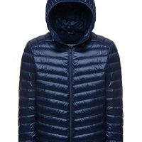 Wantdo Men's Hooded Packable Light Weight Down Jacket