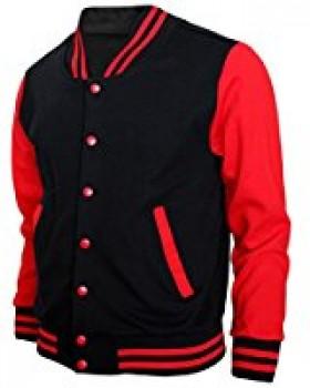 Angel Cola Black & White Cotton Varsity Lightweight Letterman Jacket2