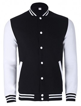 Paul Jones Slim Fit Cotton Lightweight Varsity Baseball Jacket